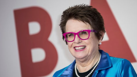 "<p>               FILE - In this Oct. 7, 2017 file photo, tennis great Billie Jean King poses for photographers upon arrival at the premiere of the film ""Battle of the Sexes"" during the London Film Festival. King and former NBA star Kareem Abdul-Jabbar are lending their names to Athlete Ally, a nonprofit targeting homophobia in sports. (Photo by Vianney Le Caer/Invision/AP, File)             </p>"