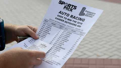 <p>               An odds sheet and betting slip are seen at Dover International Speedway before the NASCAR Cup series auto race, Sunday, Oct. 7, 2018, at Dover International Speedway in Dover, Del. (AP Photo/Nick Wass)             </p>
