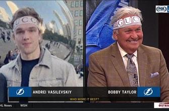 Who wore it better... Lightning goalie Andrei Vasilevskiy or FOX Sports Sun's Bobby