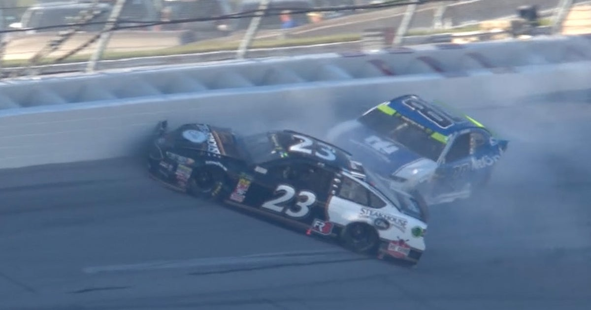 Alex Bowman wrecks late and collects J.J. Yeley | 2018 TALLADEGA