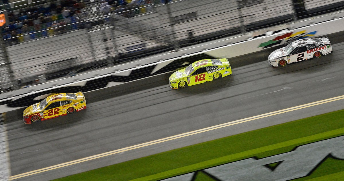 Joey Logano talks with Regan Smith about Penske's dominance at plate tracks
