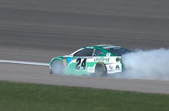 William Byron's day ends early after engine failure | 2018 KANSAS
