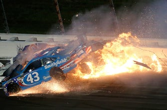Aric Almirola talks with Regan Smith about returning to the site of his life-changing crash