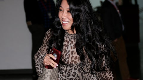 <p>               Buffalo Bills owner Kim Pegula arrives for the NFL football fall meetings in New York, Tuesday, Oct. 16, 2018. (AP Photo/Seth Wenig)             </p>
