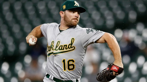 <p>               FILE - In this Sept. 12, 2018, file photo, Oakland Athletics starting pitcher Liam Hendriks throws to the Baltimore Orioles in the first inning of a baseball game, in Baltimore. Reliever Liam Hendriks will start for the Oakland Athletics in Wednesday night's , Oct. 3, AL wild-card game against the New York Yankees. Hendriks will be only the fourth pitcher to start a postseason game after a regular season of no wins, according to the Elias Sports Bureau.(AP Photo/Patrick Semansky, File)             </p>