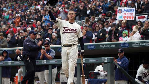 <p>               Minnesota Twins' Joe Mauer, the subject of retirement talk, acknowledges a standing ovation before batting against the Chicago White Sox in the first inning of a baseball game Sunday, Sept. 30, 2018, in Minneapolis. (AP Photo/Jim Mone)             </p>