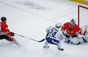 Rielly scores in OT as Maple Leafs beat Blackhawks 7-6