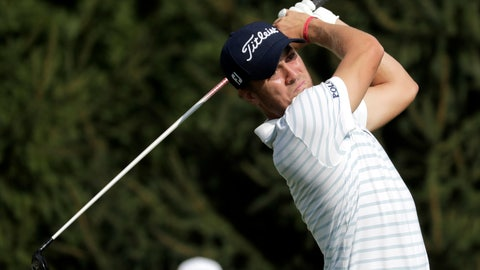 <p>               FILE - In this Thursday, Aug. 23, 2018 file photo, Justin Thomas tees off on the 14th hole during the first round of the Northern Trust golf tournament in Paramus, N.J. Tiger Woods finished off the PGA Tour season by tapping in for par to win the Tour Championship, a moment that ended any doubts that he could win again after four surgeries on his lower back. And then the moment was gone as the Ryder Cup began. Overlooked from last season was Justin Thomas being first player to win consecutive money titles since Woods, and Woods winning a fifth tournament in three decades. (AP Photo/Julio Cortez, File)             </p>