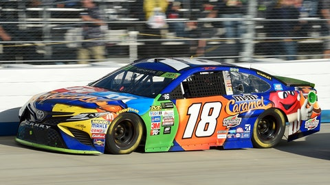 <p>               FILE - In this Sunday, Oct. 1, 2017 file photo, Kyle Busch competes during the NASCAR Cup Series auto race at Dover International Speedway in Dover, Del. Dover is ready to roll the dice on NASCAR betting. Sports betting has come to Delaware and the track is set to throw open the betting windows and allow wagers on most of this weekend's track activity. The NASCAR Cup race on Sunday, Oct. 7, 2018 is the main attraction. Fans can bet on the race winner, the first two stage winners, and a slew of prop bets that range from number of drivers to lead a lap to the average race speed.(AP Photo/Nick Wass, File)             </p>
