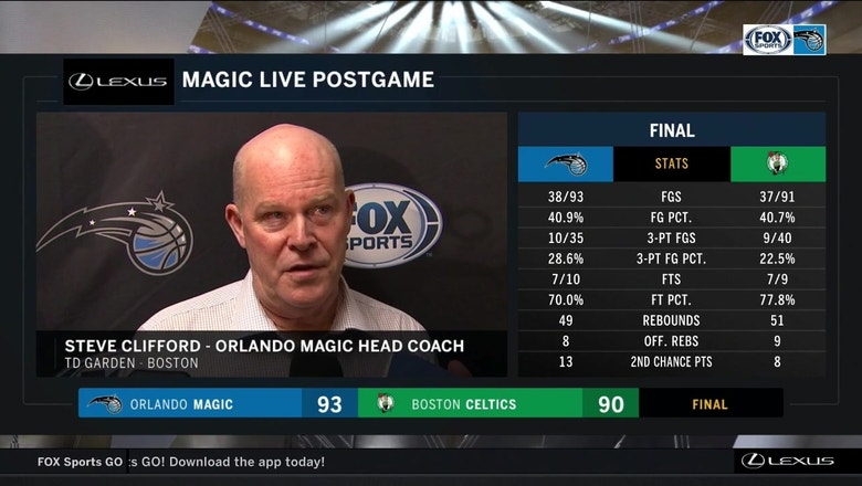 Steve Clifford on Magic performance: 'When we move the ball, we get good shots'