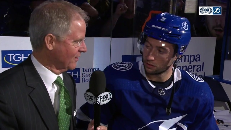 Paul Kennedy sits down postgame with Tyler Johnson