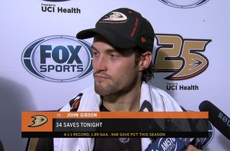 John Gibson: 'We are getting better each and every game'