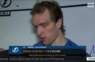 Lightning goalie Andrei Vasilevskiy reflects on his performance after making 29 saves