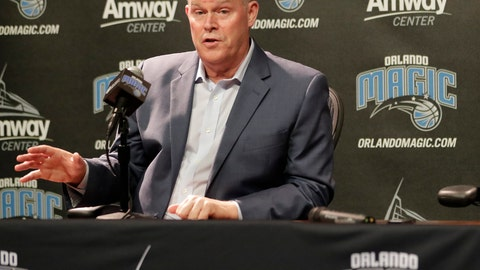 "<p>               FILE - In this May 30, 2018, file photo, Orlando Magic head coach Steve Clifford answers questions at an NBA basketball news conference, in Orlando, Fla. His father was a teacher and a high school coach in a tiny town in northern Vermont, and when he was a sophomore on his dad's team Clifford was telling his parents that he intended to head down that very same career path. The NBA was not on his radar. ""Never,"" Clifford said. ""Not at all.""(AP Photo/John Raoux, File)             </p>"