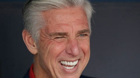 <p>               President of Baseball Operations for the Boston Red Sox Dave Dombrowski sits in the team's dugout before Game 5 of the World Series baseball game between the Boston Red Sox and Los Angeles Dodgers on Sunday, Oct. 28, 2018, in Los Angeles. (AP Photo/David J. Phillip)             </p>