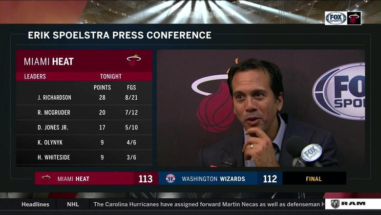 Erik Spoelstra on how Heat bounced back in less than 24 hours to win in D.C.