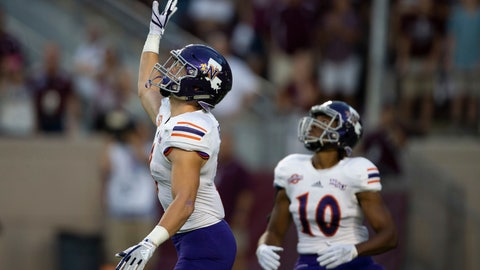 <p>               FILE - In this Aug. 30, 2018, file photo, Northwestern State's Ryan Reed (8) waves for a fair catch on the opening kickoff against Texas A&M during an NCAA college football game, in College Station, Texas. About 1 of every 10 kickoffs in the Football Bowl Subdivision have resulted in a fair catch giving the return team possession at its 25-yard line under a rule that went into effect this year. The purpose of the rule was to minimize kick returns, which have a higher injury rate compared with other types of plays. If a fair catch is made anywhere between the goal line and 25, it's a touchback and it's marked at the 25. (AP Photo/Sam Craft, File)             </p>