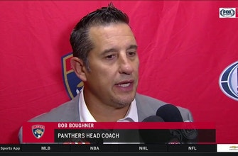 Bob Boughner discusses message he sent to Panthers before 3rd period, importance of not retaliating