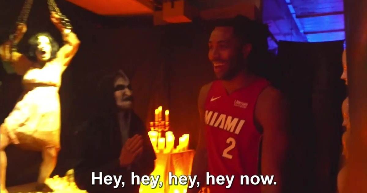Players pay surprise visit to Miami Heat Haunted House