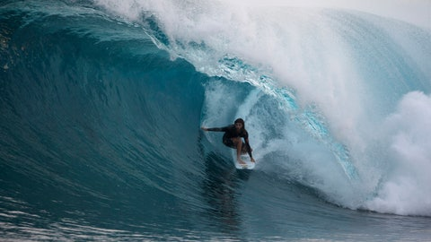 <p>               In this June 8, 2018, photograph supplied by Swilly, 29-year-old surfer Matt Meola is shown near Meantawai Islands, Indonesia. Hawaiian surfer Matt Meola doesn't like contests, but is one of the bigger names in his sport in part because of his films. (Swilly/Courtesy Photo via AP)             </p>