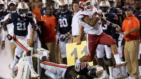 <p>               FILE - In this Sept. 22, 2018, file photo, Arkansas running back Rakeem Boyd (5) breaks free from Auburn defensive back Smoke Monday (21) and linebacker Deshaun Davis (57) during the second half of an NCAA college football game, in Auburn, Ala. The running back has lived up to his lofty expectations this season for the Razorbacks, who need to keep Boyd healthy and on the field to have a chance at their first SEC win this week against Vanderbilt. (AP Photo/Vasha Hunt, File)             </p>