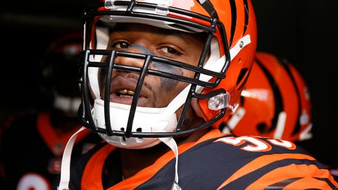 <p>               FILE - In this Oct. 29, 2017, file photo, Cincinnati Bengals outside linebacker Vontaze Burfict prepares to take the field before an NFL football game against the Indianapolis Colts, in Cincinnati. Burfict returns from his latest NFL suspension, rejoining a Bengals defense that has given up a lot of yards and points during Cincinnati's 3-1 opening run. (AP Photo/Gary Landers, File)             </p>