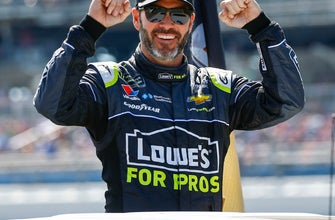 The Latest: Jimmie Johnson gets new sponsor from Ally