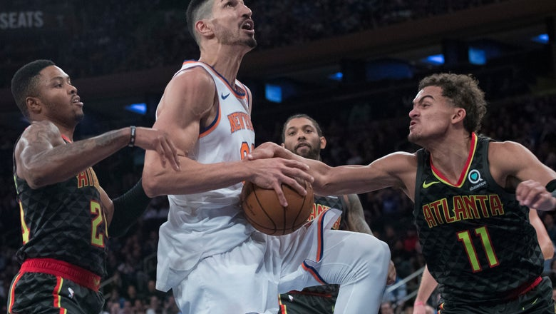 Knicks have 49-point 2nd quarter, beat Hawks 126-107