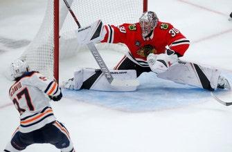 McDavid's OT goal gives Oilers 2-1 win over Blackhawks