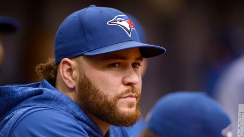 <p>               Toronto Blue Jays Russell Martin (55) steps in as the team's manager during the first inning of a baseball game against the Tampa Bay Rays Sunday, Sept. 30, 2018, in St. Petersburg, Fla. (AP Photo/Jason Behnken)             </p>