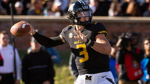 <p>               Missouri quarterback Drew Lock throws a pass during the first half of an NCAA college football game against Memphis, Saturday, Oct. 20, 2018, in Columbia, Mo. (AP Photo/L.G. Patterson)             </p>