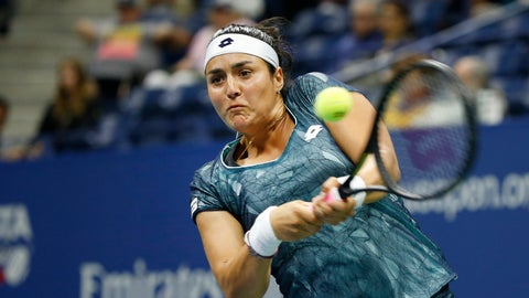 <p>               FILE - In this Thursday, Aug. 31, 2017 file photo, Ons Jabeur, of Tunisia, returns a shot to CoCo Vandeweghe, of the United States, during a match at the U.S. Open tennis tournament, in New York. Tunisian qualifier Ons Jabeur became the first player from her country to reach a WTA tennis final on Friday, Oct. 19, 2018 and she will next face Daria Kasatkina for the Kremlin Cup title. Jabeur, the 2011 junior champion at the French Open, beat Anastasija Sevastova 6-3, 3-6, 6-3 in the semifinals. (AP Photo/Jason DeCrow, file)             </p>