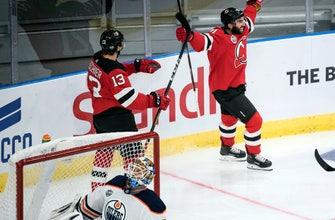 Palmieri, Zajac help Devils beat Oilers in Sweden