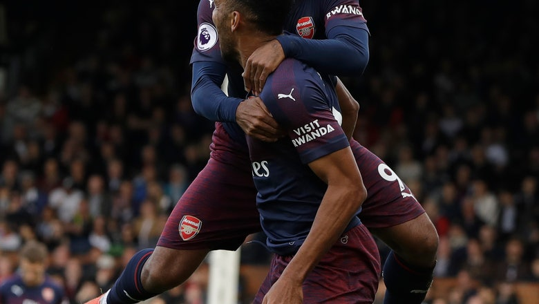 Lacazette and Aubameyang shine as Arsenal crushes Fulham 5-1