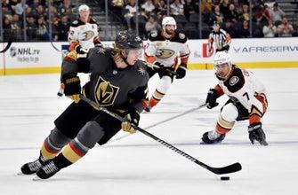 Fleury earns 408th career win, Golden Knights top Ducks 3-1