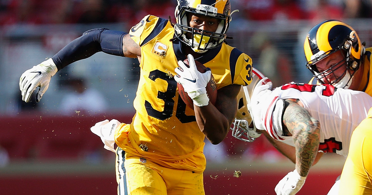 c607af57a Gurley s 3 TDs lead Rams to 39-10 win vs 49ers and 7-0 start