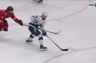 WATCH: Victor Hedman finds Nikita Kucherov for beautiful top-shelf backhand goal