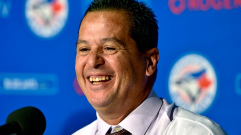 <p>               New Toronto Blue Jays manager Charlie Montoyo smiles during a news conference in Toronto on Monday, Oct. 29, 2018. (Frank Gunn/The Canadian Press via AP)             </p>
