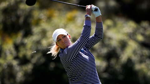 <p>               FILE - In this March 25, 2018, file photo, Cristie Kerr hits a tee shot on the second hole during the final round of the Kia Classic LPGA golf tournament, in Carlsbad, Calif. South Korea is determined to take the UL International Crown from the defending champion United States, hoping that a partisan home crowd will be a help and not a hindrance. American Kerr feels the pressure will be all on the hosts. (AP Photo/Jae C. Hong, File)             </p>