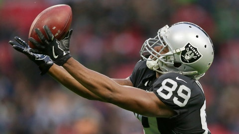 <p>               FILE - In this Oct. 14, 2018, file photo, Oakland Raiders wide receiver Amari Cooper (89) catches the ball during the warm-up before an NFL football game against Seattle Seahawks at Wembley stadium in London. The Dallas Cowboys have acquired Oakland receiver Amari Cooper for a first-round draft pick. Raiders general manager Reggie McKenzie said Monday, Oct. 22, 2018, his team will get the pick in the 2019 draft.  (AP Photo/Tim Ireland, File)             </p>