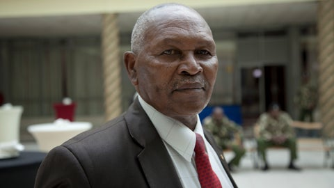 <p>               FILE - In this Friday, May 5, 2017 file photo, Incumbent head of Kenya's National Olympic Committee Kipchoge 'Kip' Keino, attends a meeting on the day committee elections were supposed to take place in Nairobi, Kenya. Kenya's director of public prosecutions said on Sunday, Oct. 14, 2018 that distance-running great Keino and six other former officials will be charged with corruption relating to the alleged misappropriation of more than $545,000 that was meant to help fund the country's team at the 2016 Rio de Janeiro Olympics. Keino, a trailblazer for Kenyan runners and a gold medalist at the 1968 Olympics, was head of the national Olympic committee until last year. (AP Photo/Sayyid Abdul Azim, File)             </p>