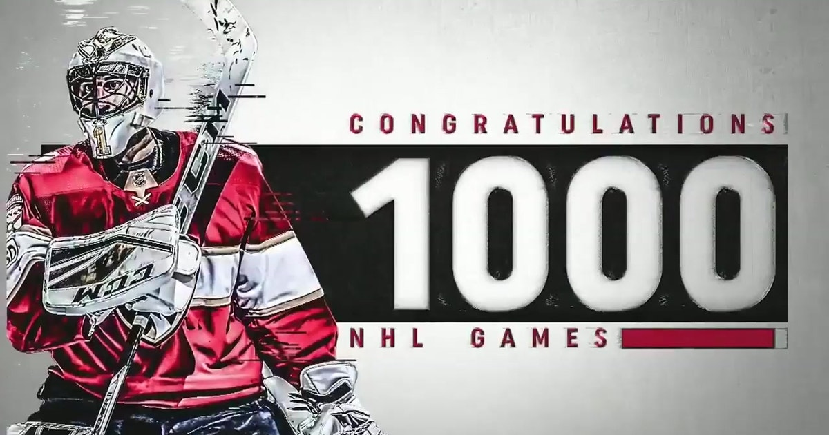 Panthers Celebrate Roberto Luongo S 1 000th Nhl Game Fox Sports