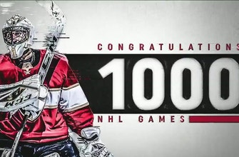 Panthers celebrate Roberto Luongo's 1,000th NHL game