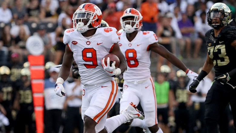 Travis Etienne breaks off 70-yard touchdown run in No. 4 Clemson's blowout of Wake Forest