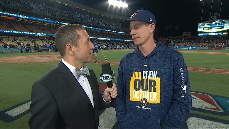 Craig Counsell on Josh Hader's availability for the remainder of the NLCS