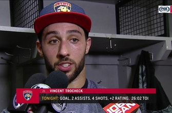 Vincent Trocheck pleased with team character, concerned about protecting leads