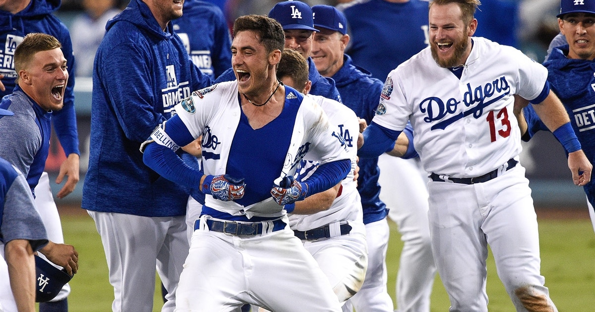 Cody Bellinger delivers 13th inning walk-off for the Dodgers to tie the NLCS at ...