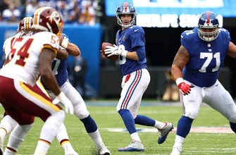 Eli Manning's struggles continue with two picks by D. J. Swearinger