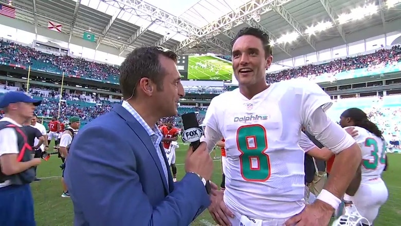 Dolphins Week 6 hero Brock Osweiler talks to Doug Gottlieb about his OT victory over the Bears