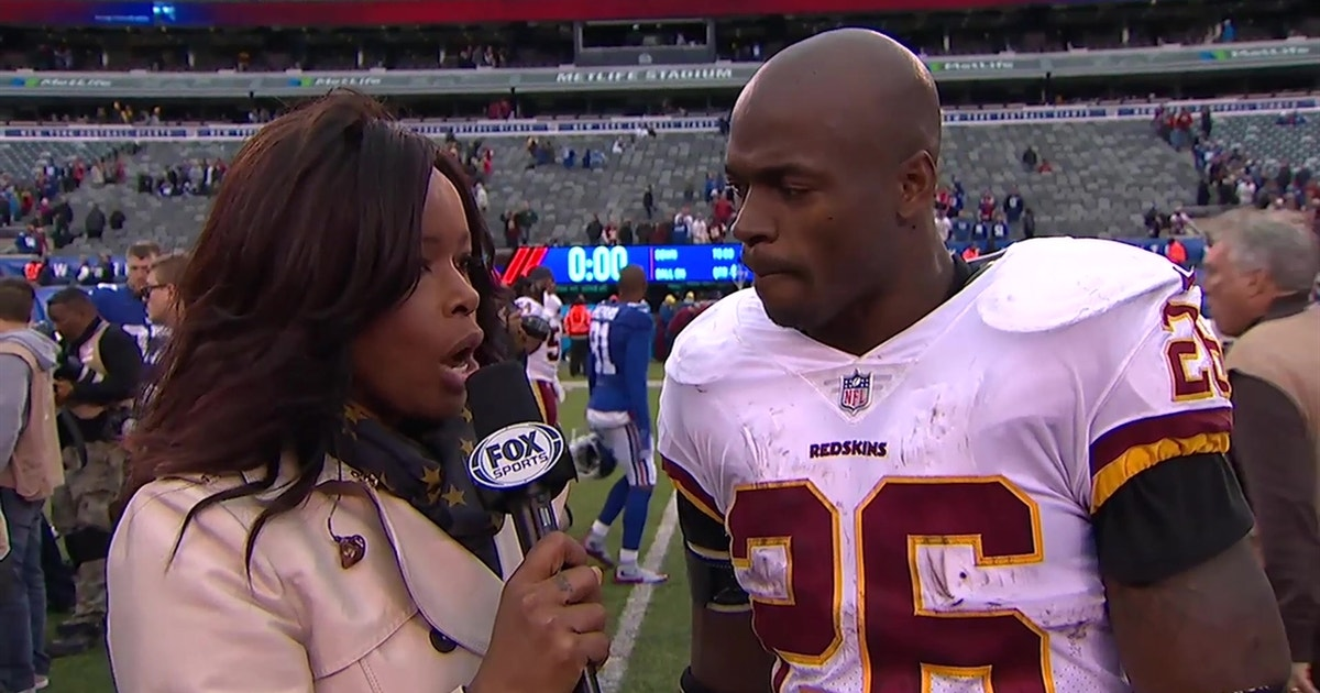 Adrian Peterson talks about his massive game against the New York Giants  97b4ecf80
